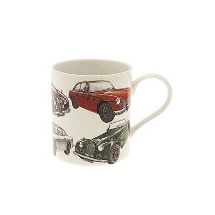 Classic Car China Mug Boxed