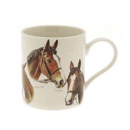 Horse China Mug Boxed