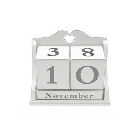 White Heart Peptutual Calendar