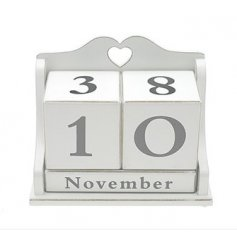 Shabby and chic peptutual calendar, part of the White Heart range...