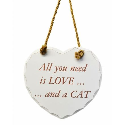 All You Need Love Cat Plaque