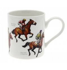 The Leonardo Collection winning post fine china mug