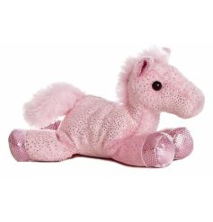 Cute pink flopsie horse by Aurora world. 8in
