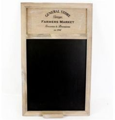 Part of the General Store Range, this natural wooden chalkboard unit will be sure to place perfectly in any rustic them