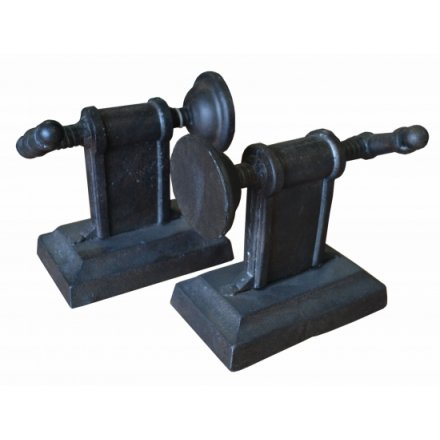 Cast Iron Vice Grip Industrial Bookends Set (2)