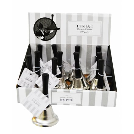 12 classic hand bells in counter display unit
