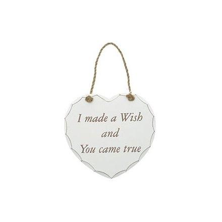 I Made a Wish Heart Plaque