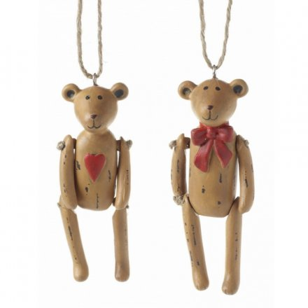 Two adorable hanging bear decorations.