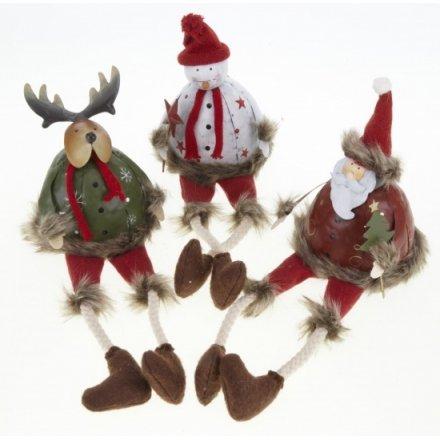Metal Santa/Snowman/Reindeer Decoration