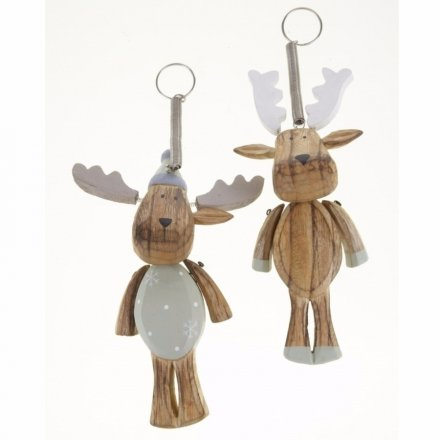 Chunky Wooden Spring Reindeer Mix
