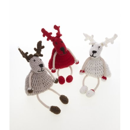 Large Crochet Reindeer Mix