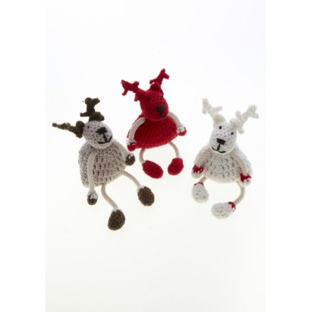 Small Crochet Reindeer Mix