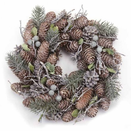 Woodland Foliage Wreath, 27cm