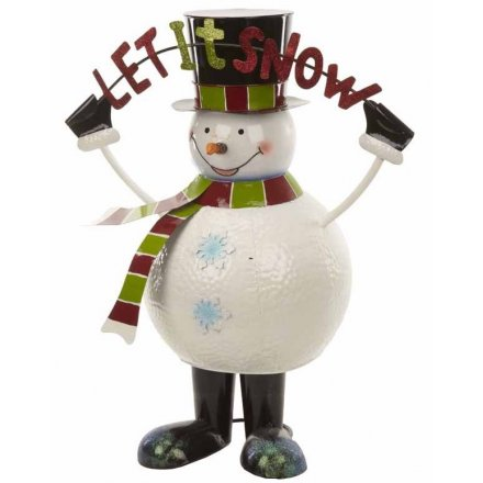 Large Bouncing Metal Snowman 82.5cm