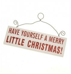 Glittery hanging Christmas sign by Heaven Sends