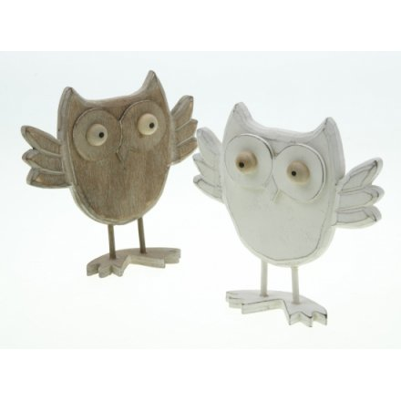 Wooden Standing Owl Mix