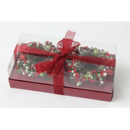 Berry Mix Candle Ring, Gift Box/Bow