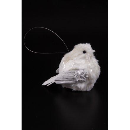 White Round Bird Decoration