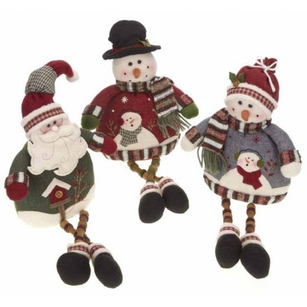 Santa Snowman with Button legs 3a