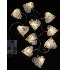 A gorgeous wire heart light up garland to decorate your house this season.