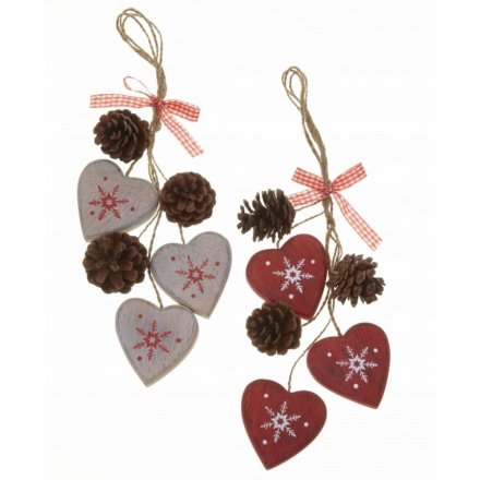 Hearts and Cone Decoration Mix