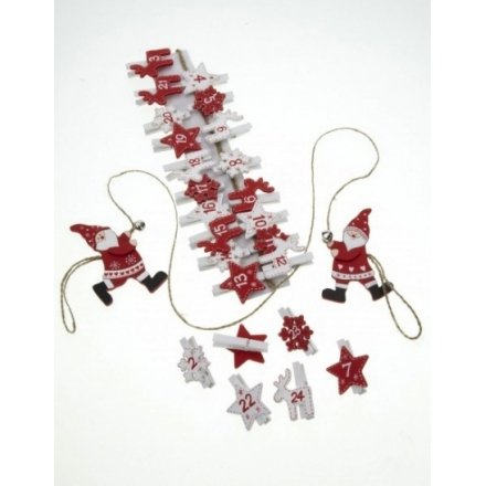 Wooden Advent Pegs