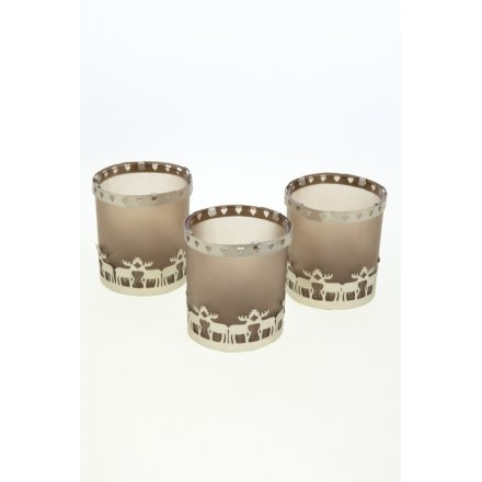 Set of 3 Candle Holders In Gift Box