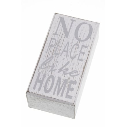 No Place Like Home Block 12cm