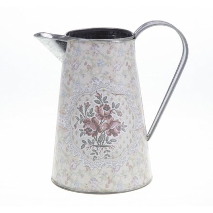 Small Metal Floral Jug