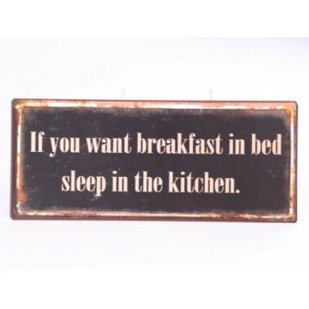 Iron Sign...Breakfast In Bed 30cm