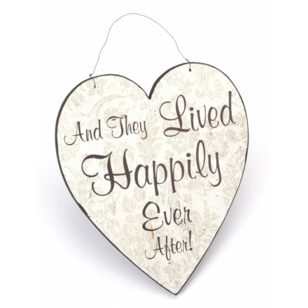Happily Ever After Hanging Heart