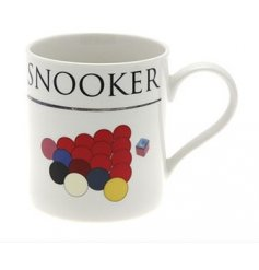 Snooker fine china oxford mug. H9.5cm