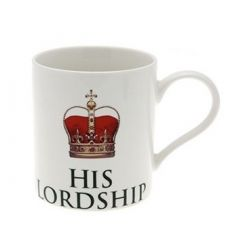 Crowned Lordship fine china mug. H9.5cm