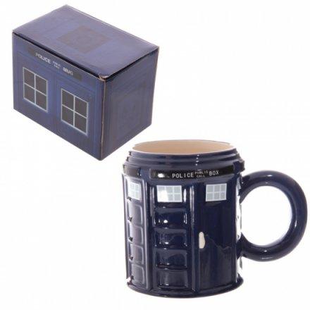 Ceramic Round Police Box Mug