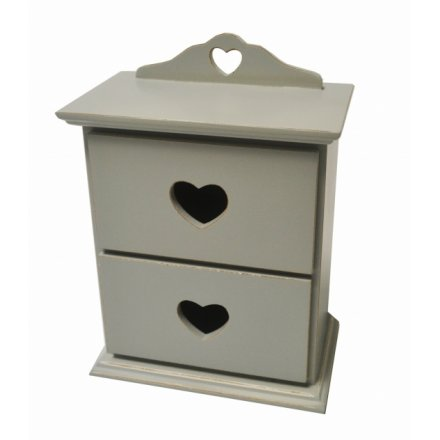 Wooden 2 drawer cabinet from the Sage range