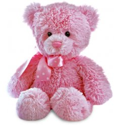 this soft and snuggly Pink Bear soft toy is perfect for cuddles!