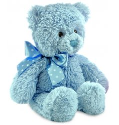 A perfect little gift idea to any newborn baby, this soft and snuggly Blue Bear soft toy is perfect for cuddles!