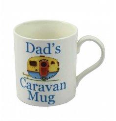 White China mug from Leonardo 'Dads caravan mug'