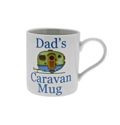 White China mug from Leonardo 'Dads caravan mug'