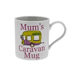 White China mug from Leonardo 'Mums caravan mug'