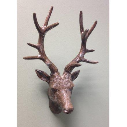 Copper Deer Head