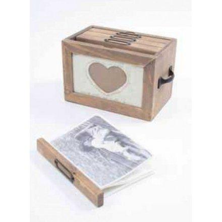 Vintage Wooden photo file