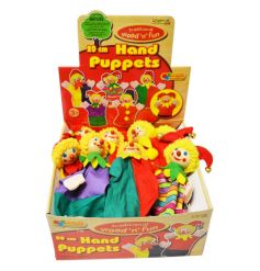 Traditional wood and fun Hand Puppets