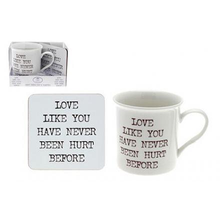 Sentiment Love Mug & Coaster