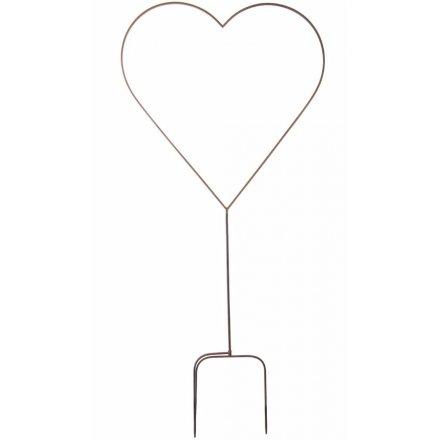 Large Metal Heart Garden Stake