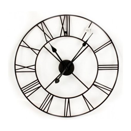 Black Roman Numeral Clock 60cm