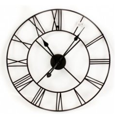 Simple and elegant wall clock with roman numerals.