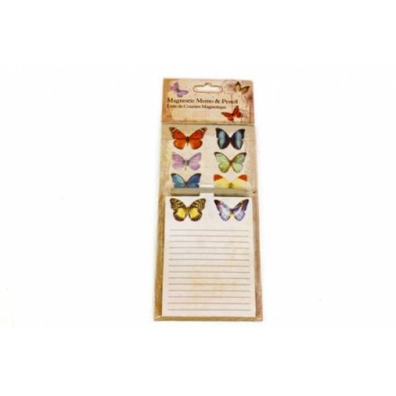 Botanical Butterfly Magnetic Memo