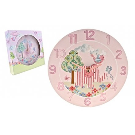 Bird & Ellie Clock Pink