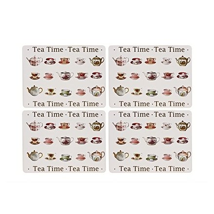 Tea Time Placemats Set Of 4